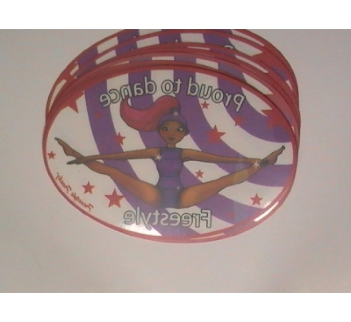 Oval Clear Vinyl Stickers