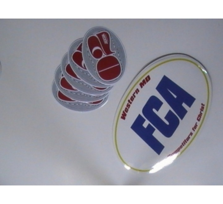 Oval Business Stickers