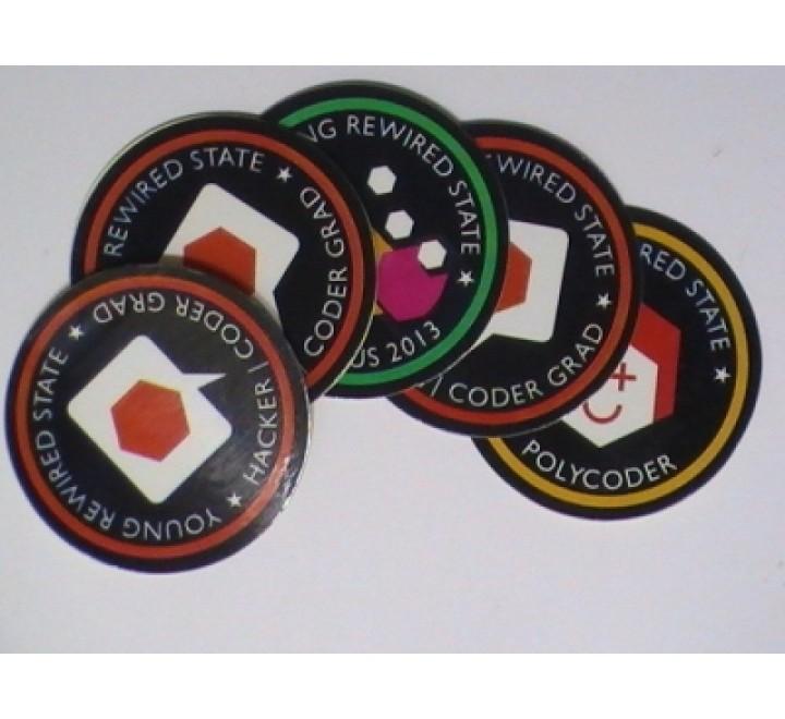 Round Bike Stickers