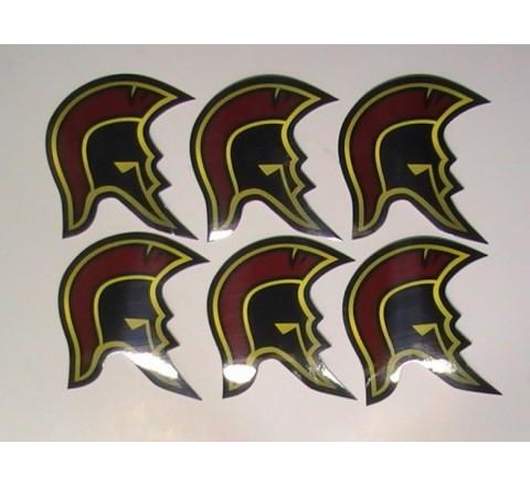 Octagon Helmet Stickers