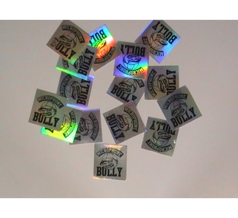 Square Metallic Stickers