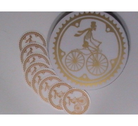 Round Clear Vinyl Stickers