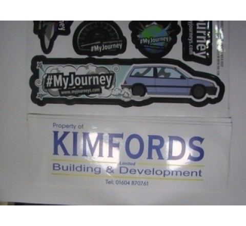 Rectangular Auto Stickers