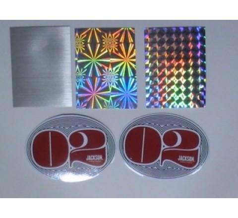 Hexogen Foil Stickers