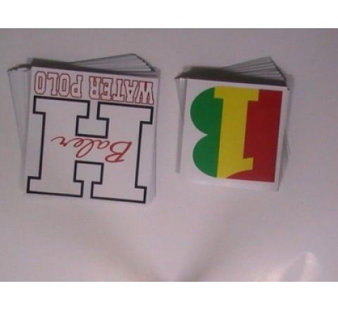 Square Helmet Stickers