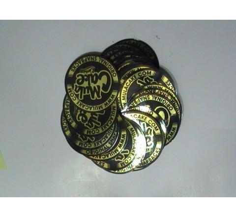 Die Cut Metallic Stickers