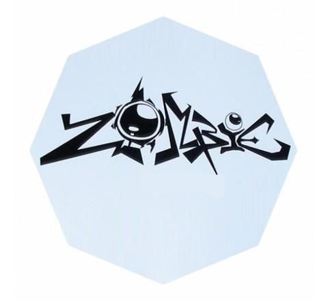 Octagon White Vinyl Stickers