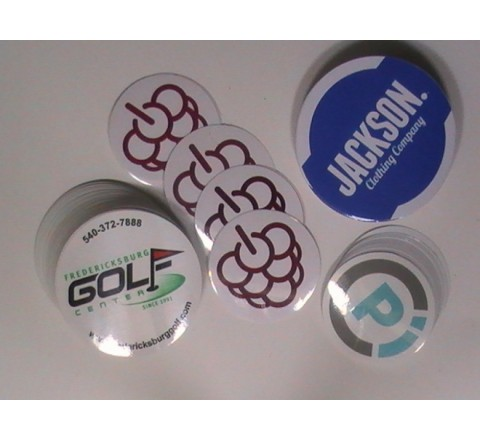 Round White Vinyl Stickers