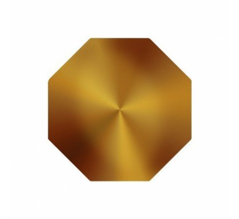 Octagon Metallic Stickers