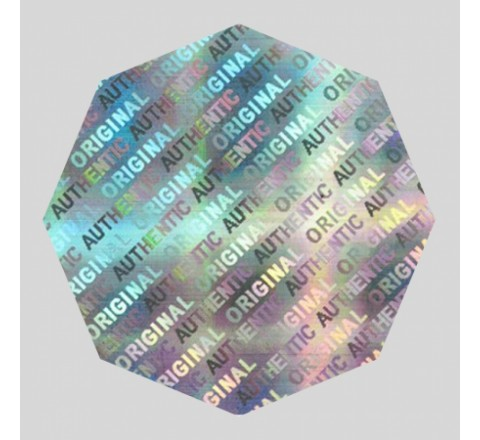 Octagon Hologram Stickers